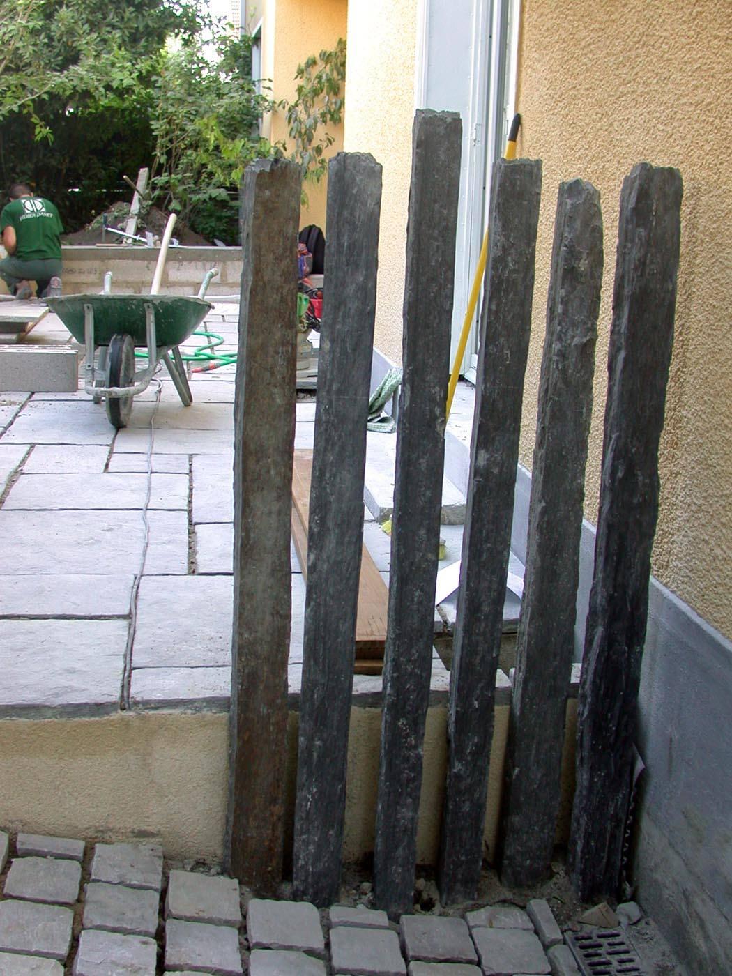 Chantier terrasse ardoise et pav s de rue jardin velours paysagiste jardinier lyon - Jardin fleuri lyon colombes ...